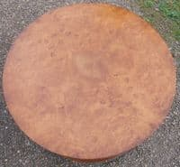 Deco Style Circular Walnut Coffee Table